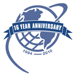 SupraNet Communications' 16th anniversary symbol.