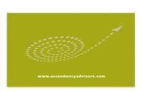 Acendancy Advisors business card back.