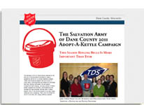Salvation Armay of Dane County Adopt a Kettle Landing page.