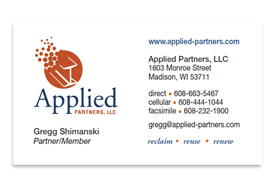Applied Partners business card.