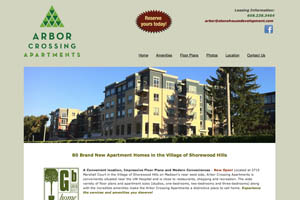 The Arbor Crossing Apartments' website.