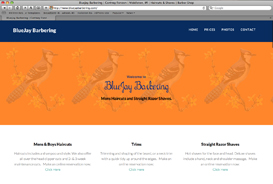 The BlueJay Barbering website.