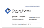 Capital Square Partners business card.