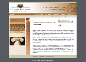 The Capital Growth Properties website.