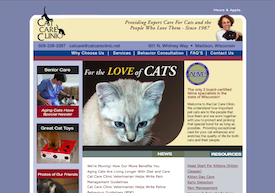 The Cat Care Clinic  inactive website.