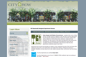 The City Row Apartments website.