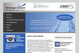 Strategic Growth - Cost Segregation Service website.
