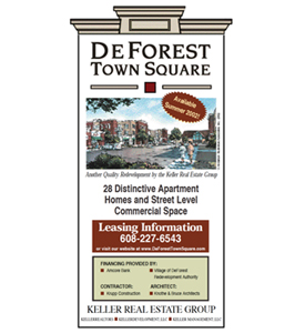 DeForest Town Square construction sign.
