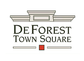 DeForest Town Square logo.
