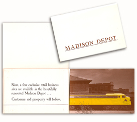 Madison Train Depot brochure for the Alexander Company.