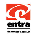 Entra Authorized Reseller Sticker.