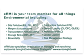 Environmental Risk Managers business card back.