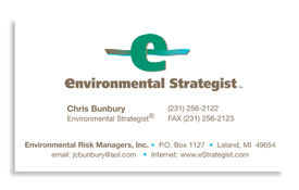 Environmental Strategist business card.