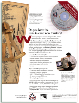 Genetic Computer Group Science and Nature trade Ad.