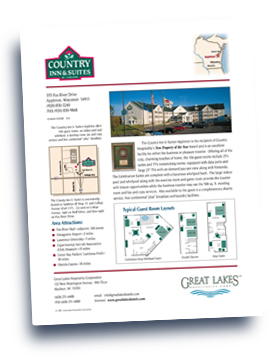 Great Lakes Companies, Inc. Country Inn & Suites - Appleton flyer.