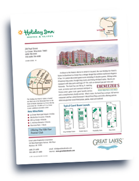 Great Lakes Companies, Inc. Holiday Inn - LaCrosse flyer.