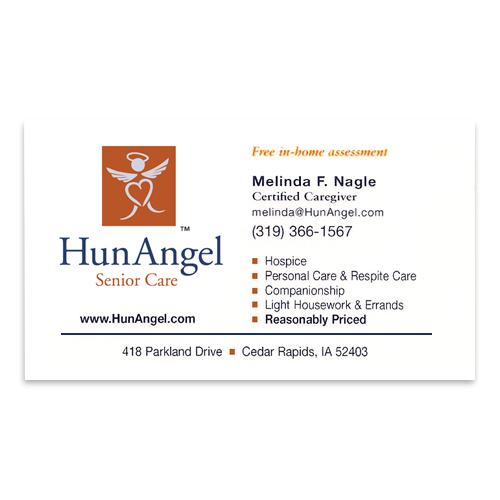 Broadbent williams advertising business card hunangel senior hunangel business card colourmoves