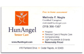 HunAngel business card.