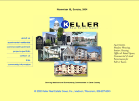 The Keller Real Estate Group website.