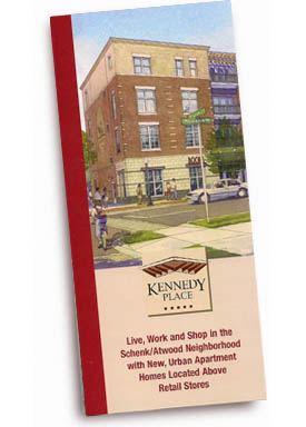 Kennedy Place Apartments trifold brochure.
