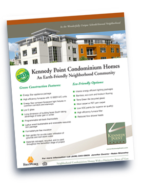 Kennedy Point green construction flyer.