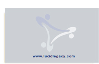 Lucid Legacy business card back.