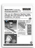Natural Ice Migraine Soother sell sheet.