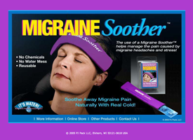 The Migraine Soother landing page.