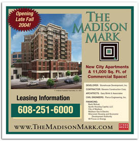 Madison Mark apartments construction sign.