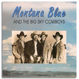Montana Blue CD jewel case insert.