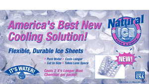 Packaging back or 2lb Natural Ice.