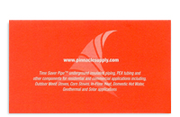 Pinnacle Supply business card back.