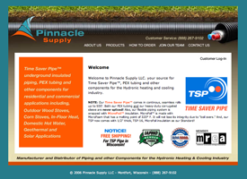 The Pinnacle Supply website.