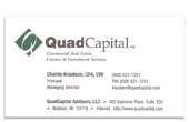 Quad Capital business card