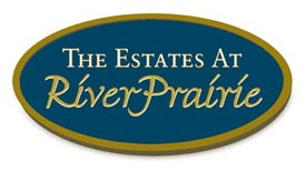 Estates at River Prairie logo.
