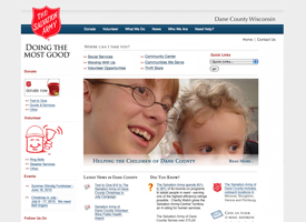 The Salvation Army of Dane County website.