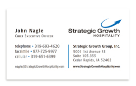 Strategic Growth Group business card.