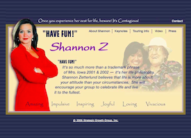 Shannon Z inactive website.