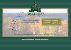 The Stonewood of Door County inactive website.