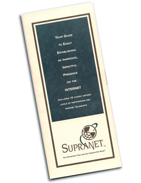 SupraNet Communications educational brochure.