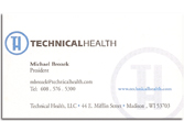 Technical Health business card.