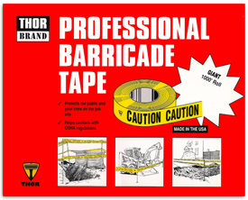 Thor Barricade Tape point of purchase display.