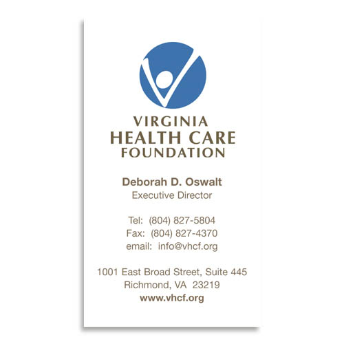 Broadbent williams advertising business card virginia health virginia health care foundation business card reheart Images