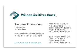 Broadbent williams advertising madison wisconsin letterhead wisconsin river bank business card colourmoves