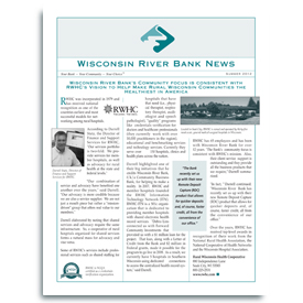 Wisconsin River Bank Newsletter.